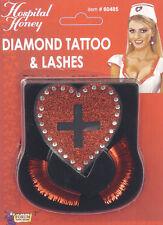Hospital Honey Nurse Costume Accessory Tattoo & Lashes