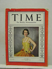 Oct 17,1932 TIME Magazine- Lily Pons on color cover- G-VG  (ARRI)