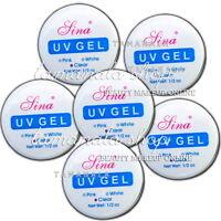 1/3/6 PCS Clear White Pink Nail Art Salon UV Gel Builder Glue Nail Art Tips
