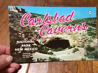1960s Era Carlsbad Caverns New Mexico National Park Caves Booklet-Colored pages