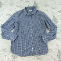 Vineyard Vines Womens Navy Blue White Check Gingham Classic Button Down Shirt 16