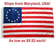 Betsy Ross Flag 3 'x 5' - 13 Stars American Colonial - 3 ft x 5 ft USA Banner