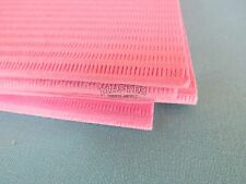 "100 Disposable Patient Bibs PINK Dental Tattoo Medical Spa Towel 2+1 Ply 13""x18"""