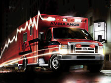 "24"" x 36"" Poster 2009 Ford E450 Super Duty Emergency Ambulance"