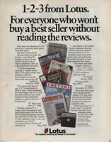 """ITHistory AD  (1984) LOTUS 1-2-3 """"WHO WON'T BUY A BESTSELLER WITHOUT"""" (FORTUNE)"""
