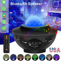 Bluetooth LED Galaxy Starry Night Light Projector Speaker Ocean Star Sky Party