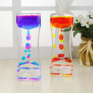 Floating Color Mix Illusion Liquid Oil Hourglass Timer Sensory Toys S2X