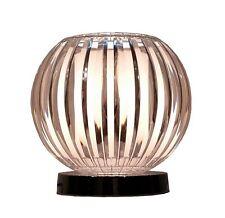 Kliving LANCIA Acrílico Transparente base cromada lámpara de mesa moderno