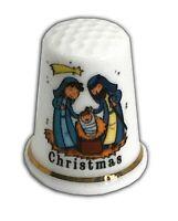 Personalised Christmas Nativity Bone China Thimble, Christmas Stocking Filler