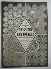 Vintage 1930's Grandmother Clark's Crocheted Motif Bedspreads Pattern Booklet