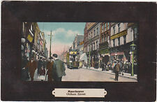 Manchester,U.K.Oldham Road,Trolley Car,Picture Frame Border,c.1909