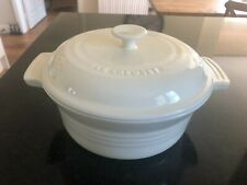 LE CREUSET CASSEROLE / COOKING POT - ALMOND - NEW