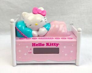 Hello Kitty Sleeping Kitty Dual Alarm Clock Radio with Night Light – Pink