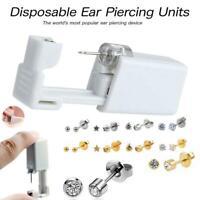 Disposable Ear Nose Piercing Unit Earring Gun Kit DIY Home Piercer Pierce Stud
