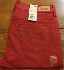 LEVI'S 505 Straight Leg Jeans - Women's 10 - 32X32 (paprika) NWT