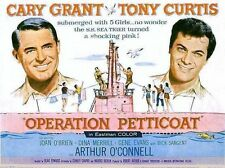 OPERATION PETTICOAT (COMEDY 1959) CARY GRANT, TONY CURTIS WWII PINK SUBMARINE