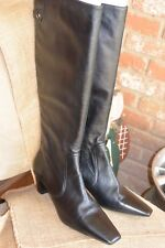 Cole Haan Black Knee-High Boots - Women's - New for Non-Wide Feet