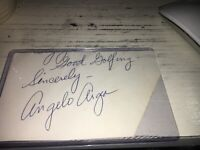 Angelo Argea Jack Nicklaus Famous Caddie Golf Signed Cut 3x5