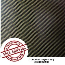Hydrographic Water Transfer Hydro Dipping Dip Film 19 X 38 Gold Carbon Fiber A
