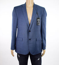 Kenneth Cole NewYork Mens Light Blue Two Button Blazer Suit Jacket 42R
