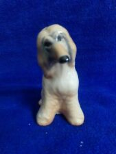 Porcelain Figurine Dog Afghan Hound Made in Russia Marked Blond