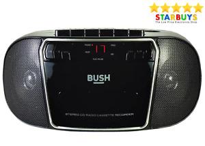 Bush Portable CD Player FM Radio Cassette Tape Player & Recorder Stereo Boombox