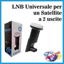 Convertitore LNB Universale per un Satellite a Due Uscite