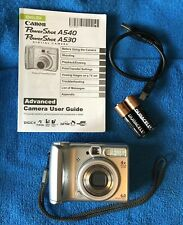 Canon PowerShot A540 6.0MP Digital Camera -Silver~~Nr Mint~~USB~~