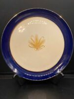 Taylor Smith Taylor - Versatile Golden Wheat Cobalt Blue - Dinner Plate 10""