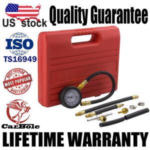Fuel Pump / Vacuum Tester Gauge Leak Carburetor Pressure Diagnostics w/Case US
