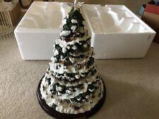 "New Listing2004 Bradford Exchange Thomas Kinkade Village Christmas Illuminated Tree 15""tall"