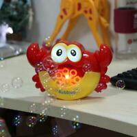 Baby Kids Bubble Tub Crab Automatic Shower Machine Blower Maker Bath Music Toy
