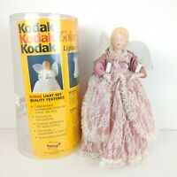 "Vintage 12"" Kodak Color of Christmas Lighted Angel Tree Topper 1991"