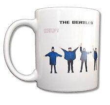 "THE BEATLES ""HELP!"" WHITE CERAMIC COFFEE MUG COLLECTIBLE NEW NIB"