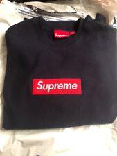 Supreme Box Logo Sweatshirt Small 100% Authentic  Navy