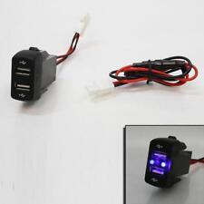 12/24V Cruscotto Doppia Porta USB CAMION CARICABATTERIE PRESA LED per