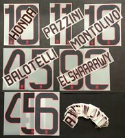 KIT-NUMERI-LETTERE UFFICIALI 3RD 2013-2014 OFFICIAL KITS/LETTERS/NUMBERS