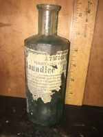 ATWOODS BITTERS EMBOSSED BOTTLE / LABEL ~ Small Chip Near Lip!!