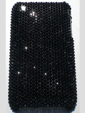 Bling Back Case for iPhone X with Swarovski Crystals - 12ss Jet Black HandMade