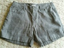 J. JILL Women's Size 4 Linen Shorts Linen Gray/Green
