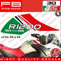 Adesivi Stickers serbatoio BMW 30 YEARS GS MOTORRAD R 1200 ADVENTURE Tank Italy
