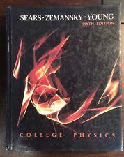 College Physics 6th Edition 1985 Hardback Sears Zemansky Young PreownedBook.com
