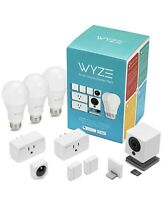 Wyze Smart Home Starter Bundle W Camera, Motion Sensor, Smart Plugs & LED Bulbs