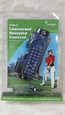 NEW Radio Shack 3 In 1 Universal Remote Control Golf Bag Game Room Man Cave