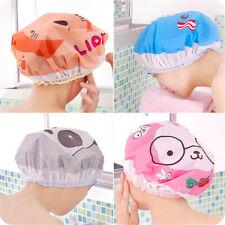 1Pcs Waterproof Bathing Hair Hat Home Elastic Shower Cap Women P3