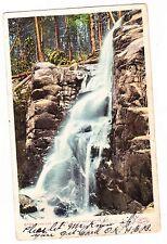 CASCADE FALLS--------- WHITE MOUNTAINS  NEW HAMPSHIRE -------------1906 POSTCARD