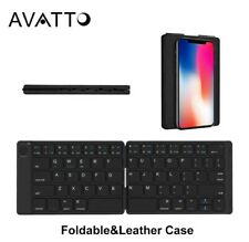 Portable Leather Russian Bluetooth Wireless Tablet Mini Keyboard With BT Keypad