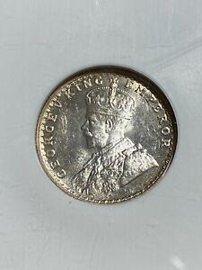 1917(C) India British 1/4 Rupee Graded MS65 by NGC!!