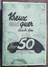 Steyr 50 - Beschreibung - Handbuch - 1936-37