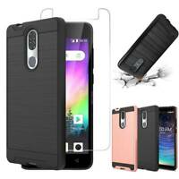 For Coolpad Legacy Shockproof Phone Case Ultra Soft TPU 2-Layers Slim Blck Cover